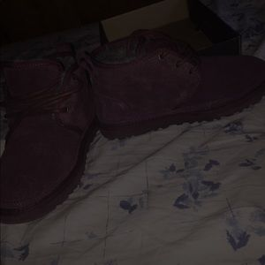 burgundy/purple UGGS